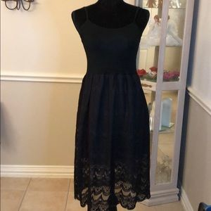 NWT Black lace tank dress Size S
